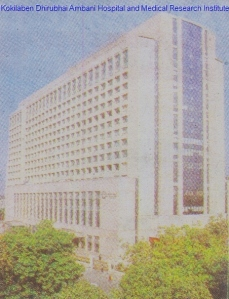 Kokilaben Dhirubhai Ambani Hospital and Medical Research Institute.
