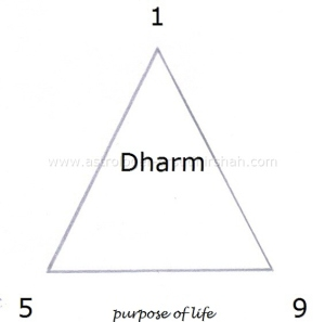 "In Horoscope 1st,5th and 9th house is ""Dharm"" - Purpose of Life."